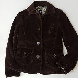 Gap corduroy Blazer Jacket brown size 0 black